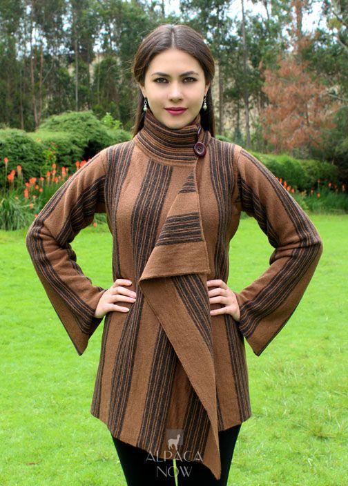 Long Sleeve Empire Alpaca Cardigan