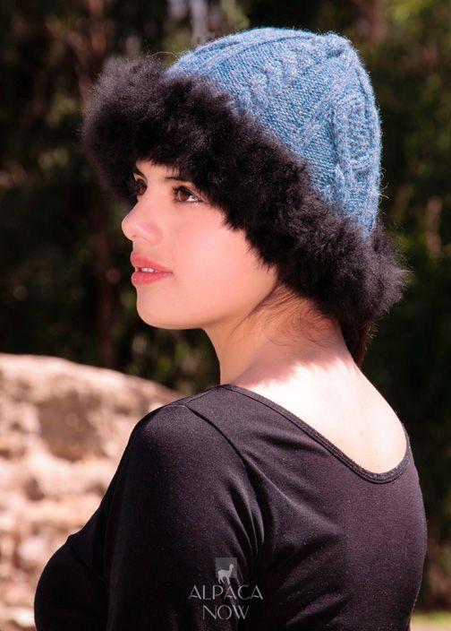 Diamond Cable Alpaca Fur Hat