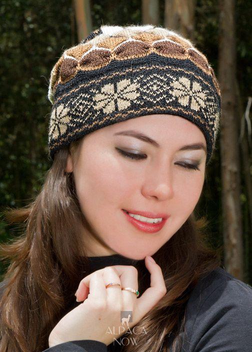 Natura Alpaca Knit Hat - Fleece Lining