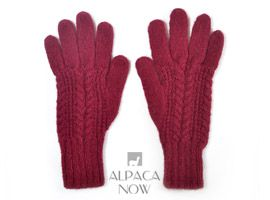 Classic Cable Alpaca Gloves