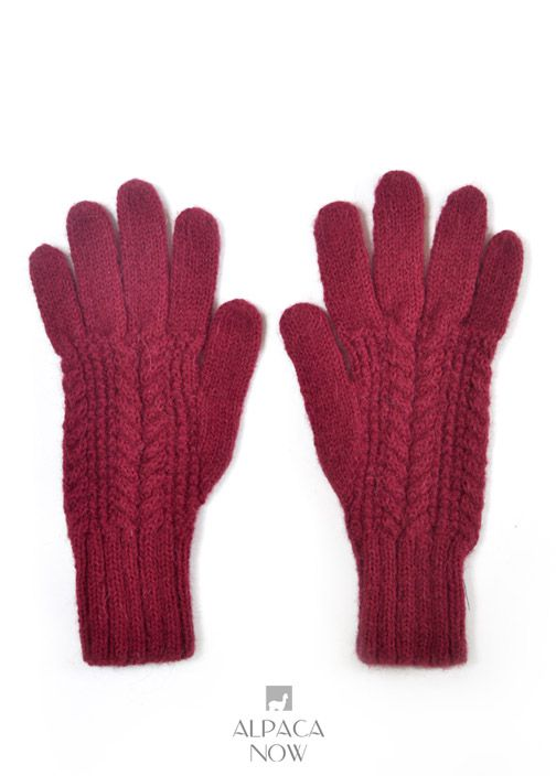 Classic Cable Alpaca Gloves