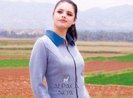 Ladies Reversible Alpaca Fitted Jacket with Zipper