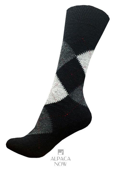 Alpaca Argyle Dress Socks
