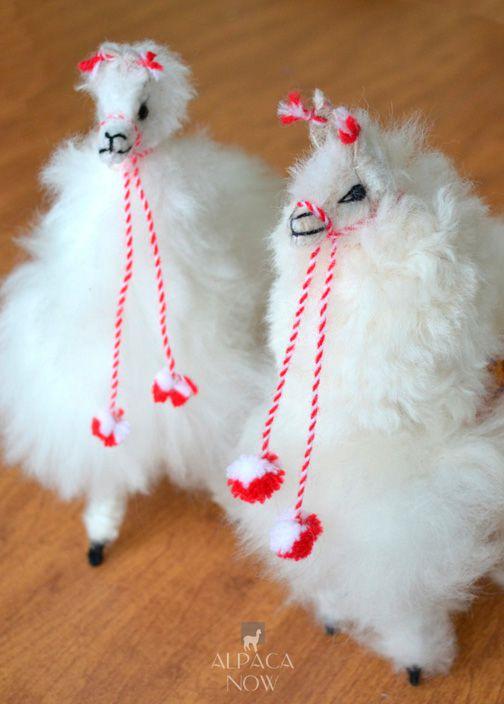BABY ALPACA Fur Andean Ornament