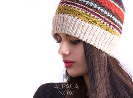 Textured Ski Alpaca Hat