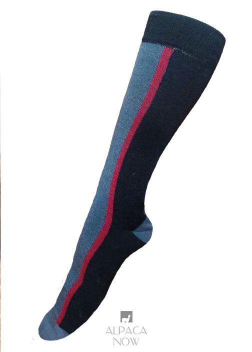 Royal-Silk Striped Dress Socks